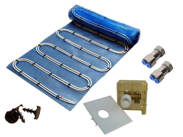 10,0m² Warmwasser Fußbodenheizung AquaDur Plus Paket Regelbox RTL