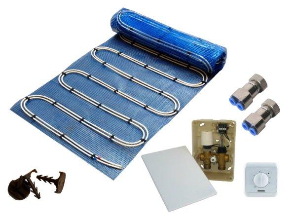 7,5m² Warmwasser Fußbodenheizung AquaDur Plus Paket Regelbox E-Regelbox Standard