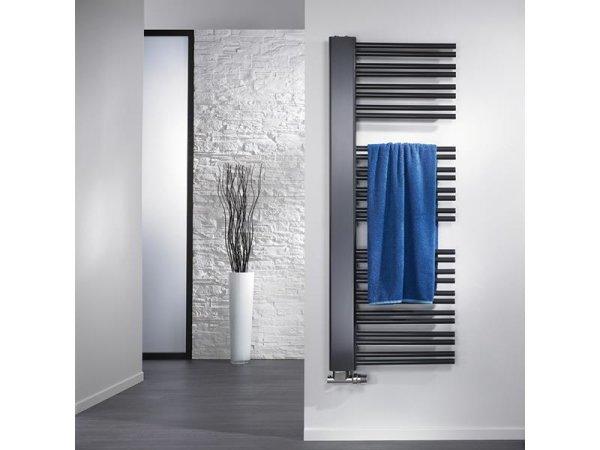 Badheizkörper Softcube Plus, 610 x 1210 mm, anthrazit, Ausführung rechts