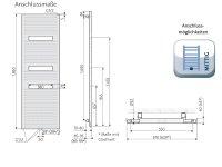 Badheizkörper Atelier Highline, 620 x 1860 mm,...