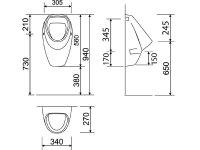 Urinal Komplett-Set
