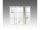 Spiegelschrank Arbo, 73 x 63 cm, mit LED Beleuchtung, weiß
