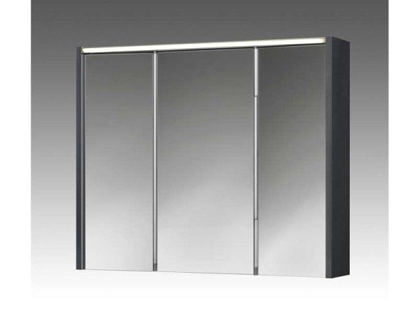 Spiegelschrank Arbo, 73 x 63 cm, mit LED Beleuchtung, anthrazit