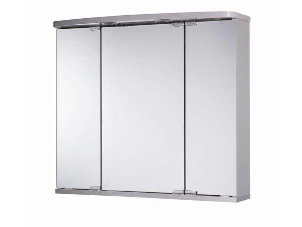 Spiegelschrank Dora, 68 x 60 cm, mit LED Beleuchtung, silber