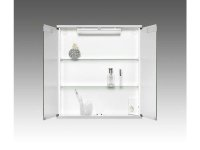 Spiegelschrank Cento 60 LS, 60 x 65 cm, aluoptik