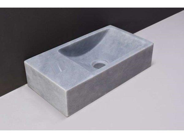 Naturstein-Handwaschbecken Venetia XS Marmor, matt geschliffen, 29 x 16 x 10 cm, ohne Hahnloch