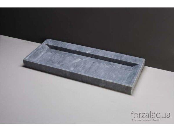 Naturstein-Waschtisch BELLEZZA Marmor, matt geschliffen, 100,5 x 51,5 x 9 cm, ohne Hahnloch