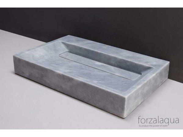 Naturstein-Waschtisch BELLEZZA Marmor, matt geschliffen, 80,5 x 51,5 x 9 cm, mit Hahnloch