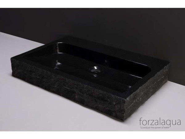 Naturstein-Waschtisch PALERMO Granit, gespitzt, 80,5 x 51,5 x 9 cm, mit Hahnloch
