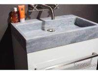 Naturstein-Waschtisch PALERMO Marmor, matt geschliffen, 80,5 x 51,5 x 9 cm, ohne Hahnloch