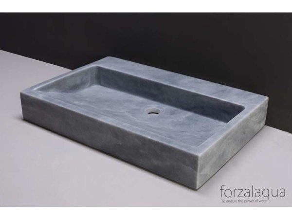 Naturstein-Waschtisch PALERMO Marmor, matt geschliffen, 80,5 x 51,5 x 9 cm, mit Hahnloch