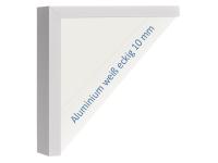 Infrarotheizköper, 1100 x 600 mm, weiss, Rahmen Alu 10mm, 600W
