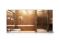 Infrarot-Spiegelheizkörper, 1200 x 600 mm, Rahmen Alu 10mm, 700W