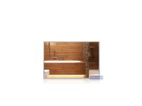 Infrarot-Spiegelheizkörper, 600 x 400 mm, Rahmen Alu...
