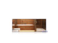 Infrarot-Spiegelheizkörper, 900 x 350 mm, Rahmen Alu...