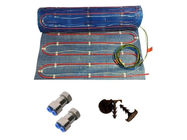 Warmwasser/Elektro Fussbodenheizung HoWaTech Variant 2,5m²