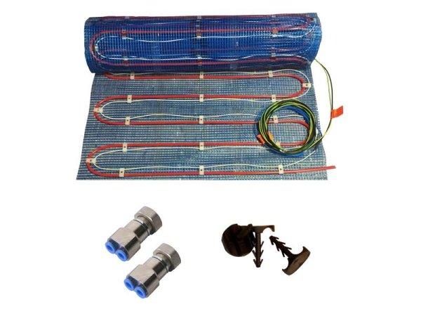Warmwasser/Elektro Fussbodenheizung HoWaTech Variant 5,0m²