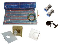 Warmwasser/Elektro Fussbodenheizung HoWaTech Variant 10,0m² Set Standard