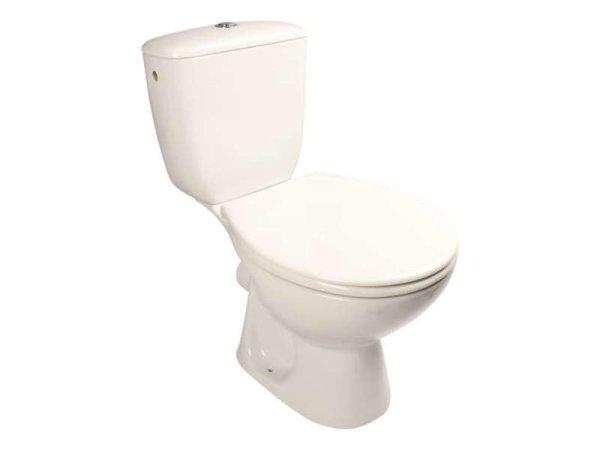 Stand-WC mit Keramikspülkasten, 64,5 x 37,5 cm