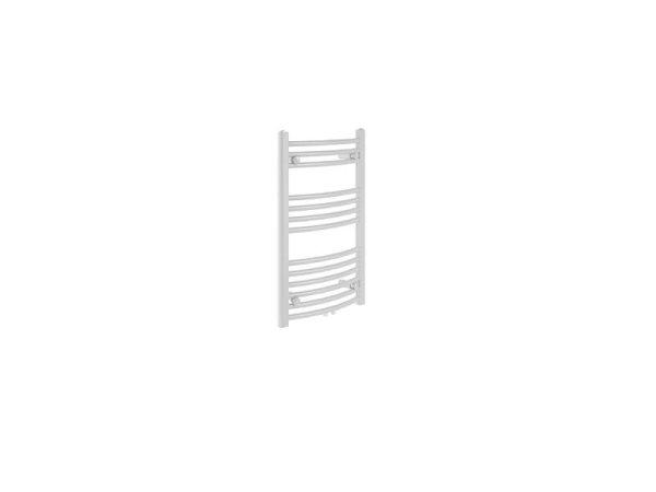 Badheizkörper Bari, 60 cm * 80,3 cm, weiß, gebogen, Mittelanschluss