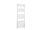 Badheizkörper Bari, 60 cm * 118,8 cm, weiß, gebogen, Mittelanschluss