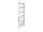 Badheizkörper Bari, 60 cm * 160 cm, verchromt, gerade, Mittelanschluss