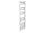 Badheizkörper Bari, 60 cm * 178,5 cm, verchromt, gerade, Mittelanschluss