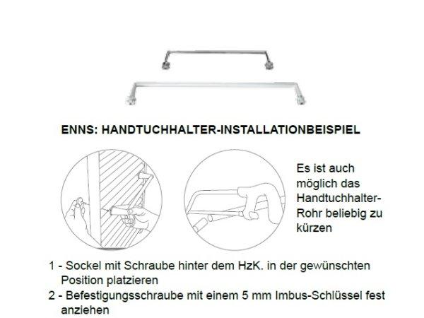 Handtuchhalter Enns, 50 cm, weiß