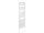 Badheizkörper Wels, 60 cm * 170,3 cm, weiß, gerade, Anschluss rechts/links-unten
