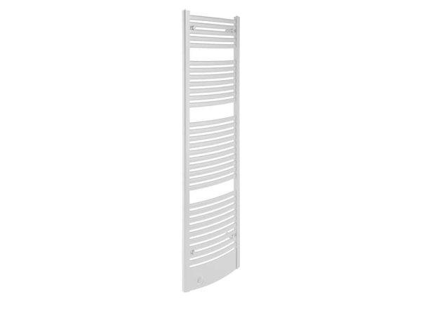 Design Badheizkörper Graz, 59 cm * 178,5 cm, weiß, gebogen, Anschluss Mittelanschluss