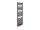 Design Badheizkörper Graz, 59 cm * 178,5 cm, anthrazit, gebogen, Anschluss Mittelanschluss
