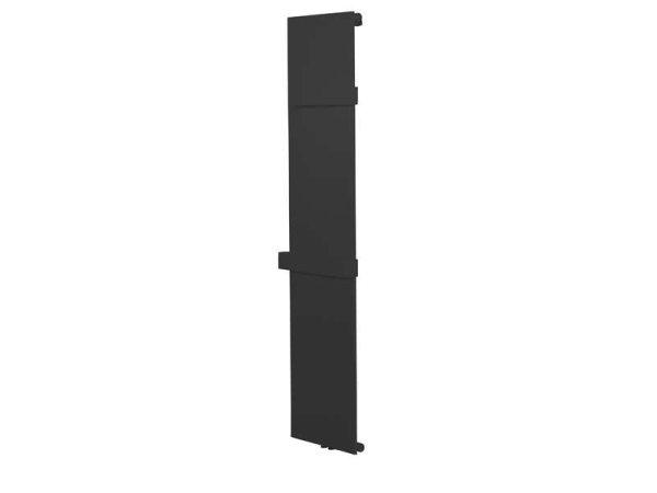 Design Badheizkörper Neustadt, 45 cm * 180 cm, anthrazit/schwarz, gerade, Anschluss Mittelanschluss