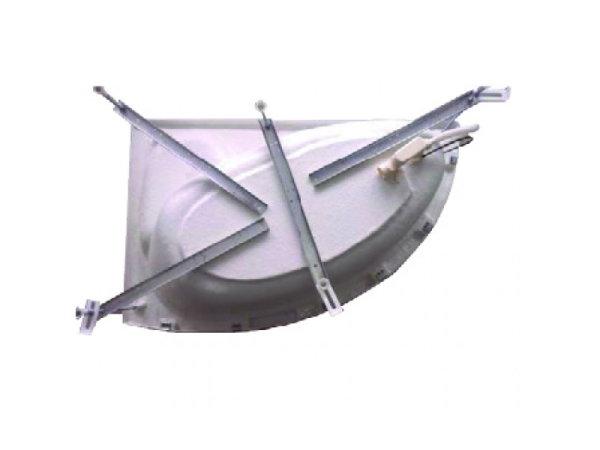 mit Badewannenfußgestell (bei Verwendung von Front und Seitenschürzen)
